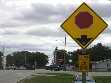 Text Stop Ahead Signs Phased Out Iowa Highway Ends Etc