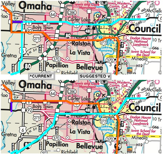 What If We Swapped Us 6 And 275 In Omaha Iowa Highway Ends Etc - Omaha-on-us-map