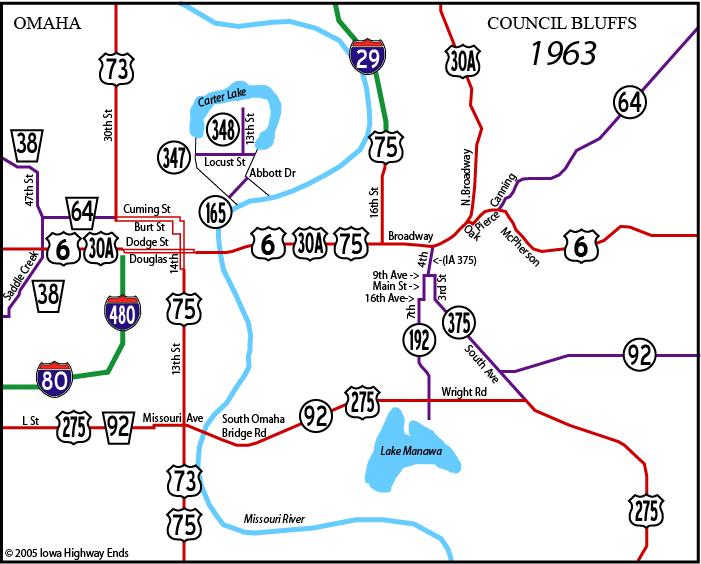 Council Bluffs Maps - Us map i 80