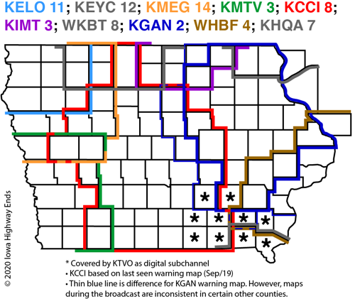 Iowa TV Maps Cbs Television City Map on